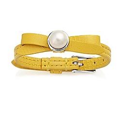 Jersey Pearl - Yellow joli fwp bracelet