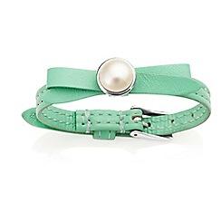 Jersey Pearl - Green joli fwp bracelet