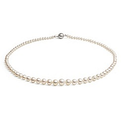 Jersey Pearl - White graduated fwp necklace
