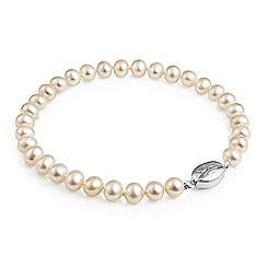 Jersey Pearl - White freshwater pearl necklace