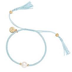 Jersey Pearl - White crown tassel bracelet