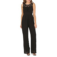 Mela - Black lace sweetheart jumpsuit