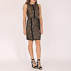 Mela - Black contrast lace dress