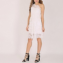Lili London - White rosie one shoulder lace dress