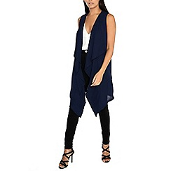Alice & You - Navy long line waterfall crepe