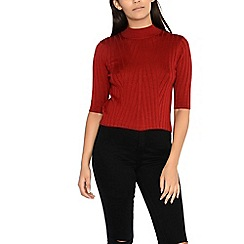 Alice & You - Red high neck knitted top