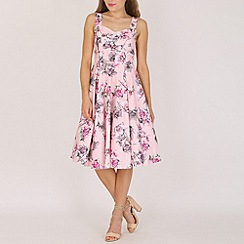 Stella Morgan - Pink floral '50s style cocktail dress