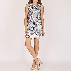 Stella Morgan - Purple net print shift dress