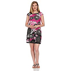 Roman Originals - Pink floral printed shift dress