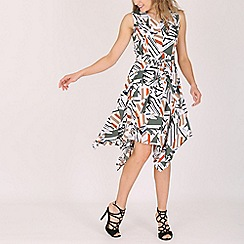 Mela - Multicoloured hankerchief high-low dress
