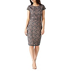 Sugarhill Boutique - Grey della lace shift dress