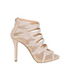 Jane Norman - Cream diamante cage heels
