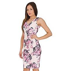 Jane Norman - Multicoloured floral bonded lace dress