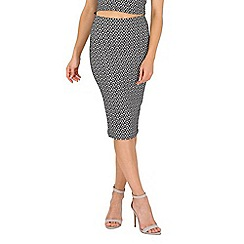 Jane Norman - Black geo pencil skirt