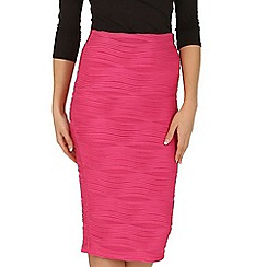 Jane Norman - Pink ripple pencil skirt