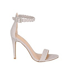 Jane Norman - Grey grey plaited ankle strap stiletto heel