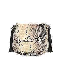 Jane Norman - Cream snake skin tassel bag