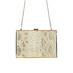 Jane Norman - Gold textured metallic clutch bag