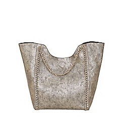 Jane Norman - Gold metallic chain straps bag
