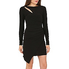 Jane Norman - Black wrap slash neck dress