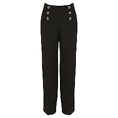 Jane Norman - Black wide leg military trousers