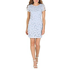 Tenki - Blue leaf print shift dress