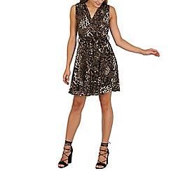 Mela - Multicoloured leopard front cross dress