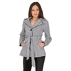 Jane Norman - Multicoloured gingham belted trench jacket