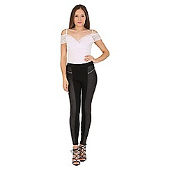 Jane Norman - White white lace cold shoulder top