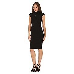 Jane Norman - Black black jersey high neck dress