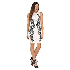 Jane Norman - Black white caviar short dress