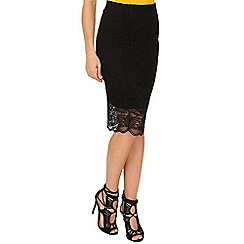 Jane Norman - Black lace midi pencil skirt