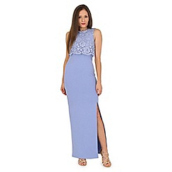 Jane Norman - Blue lace double layer maxi dress