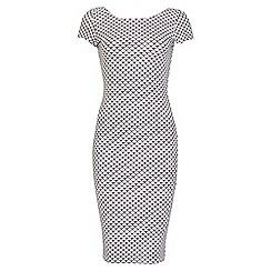 Jane Norman - White printed bodycon dress