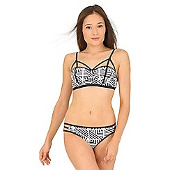 Jane Norman - Black mono aztec print bikini top