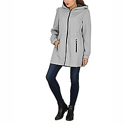 David Barry - Taupe ladies lightweight hooded coat