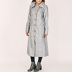David Barry - Silver ladies generous fitting coat