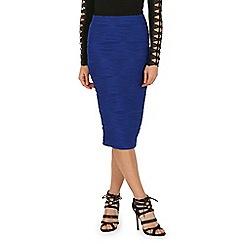 Jane Norman - Blue ripple pencil skirt