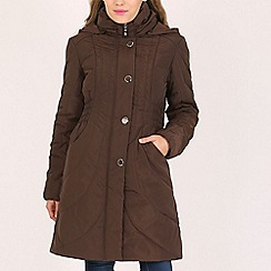 David Barry - Brown ladies padded coat
