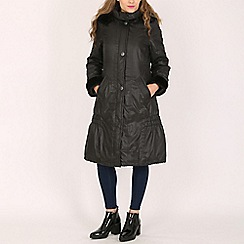 David Barry - Black ladies padded raincoat