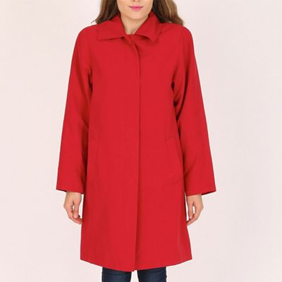 David Barry Red ladies showerproof rain coat
