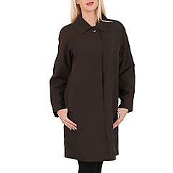 David Barry - Brown ladies showerproof rain coat