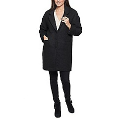 David Barry - Black ladies single breasted  baggy coat