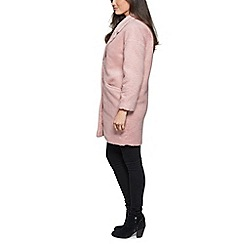 David Barry - Pink ladies single breasted  baggy coat