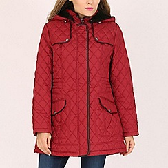 David Barry - Red ladies diamond quilt jacket