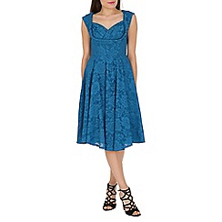 Jolie Moi - Blue Crossover Bust Prom Dress