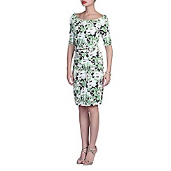 Jolie Moi - Green floral print dress