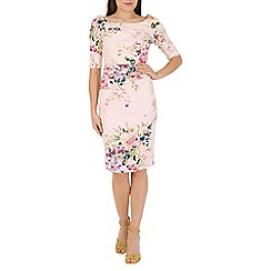 Jolie Moi - Pink ruched wiggle dress