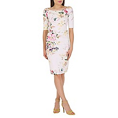 Jolie Moi - Cream floral print dress