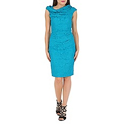 Jolie Moi - Turquoise Twist Bardot Shift Dress
